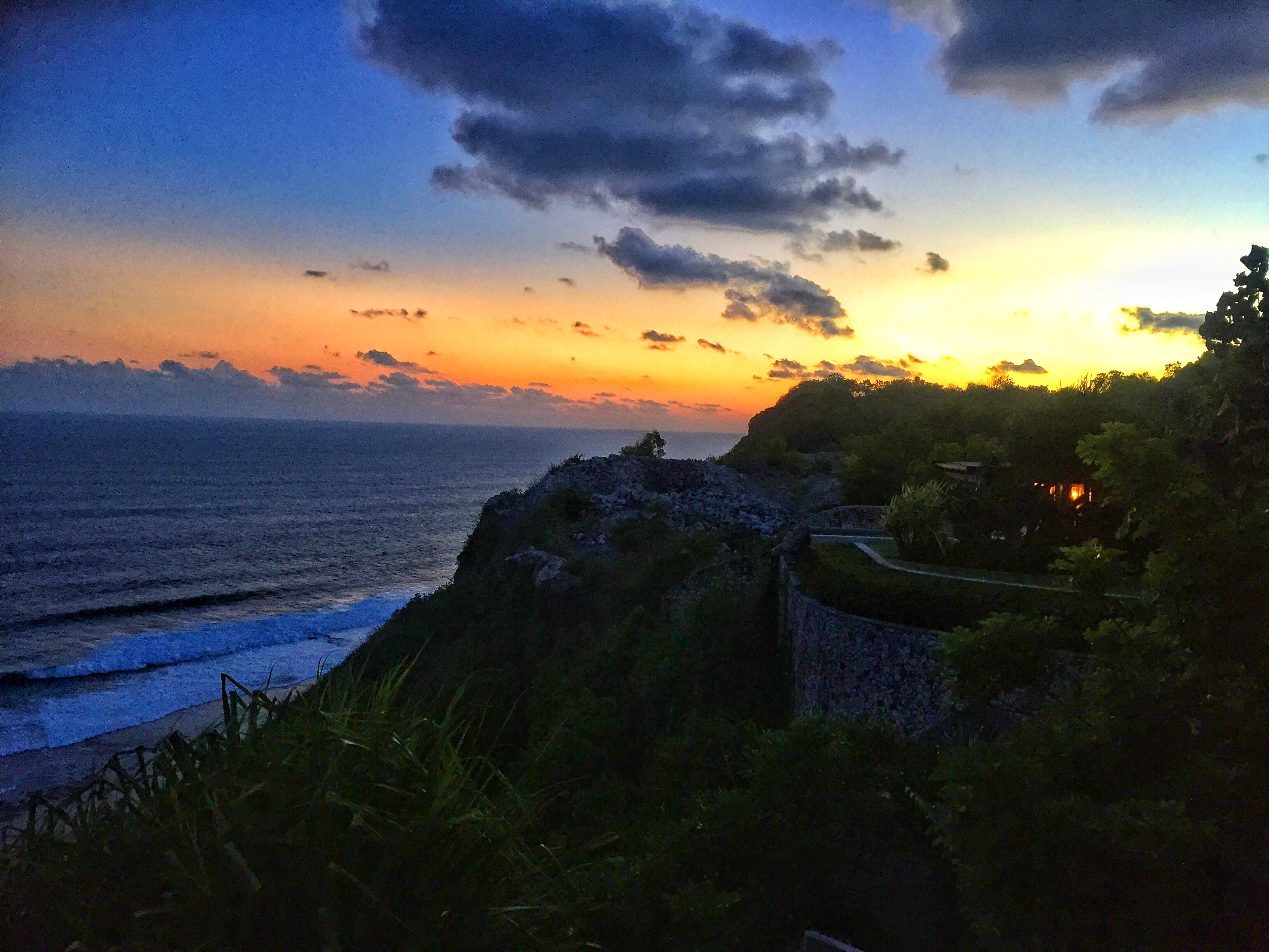 In-Villa Dining at The Ungasan Clifftop Resort Bali sunset